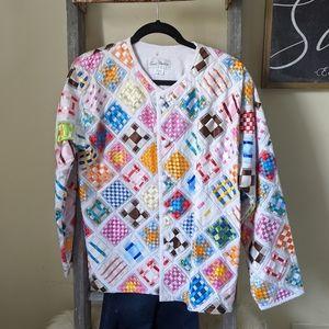 Multicolor Ribbon Patchwork Jacket - sz M